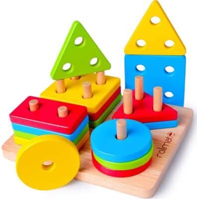 Rolimate Wooden Puzzle Shape Sorter