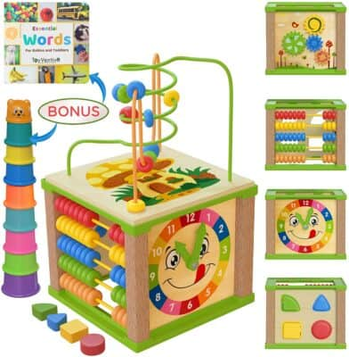 Toyventive Wooden Kids Baby Activity Cube