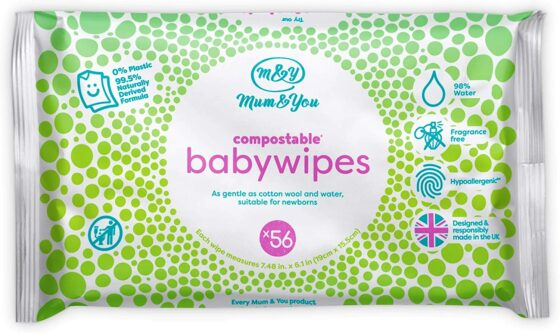 Mum & You Compostable Plastic-Free Baby Wipes