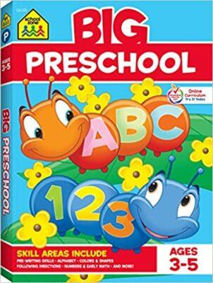 School Zone Big Preschool Workbook By Joan Hoffman