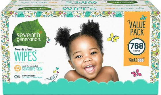 Seventh Generation Free & Clear Unscented Baby Wipes