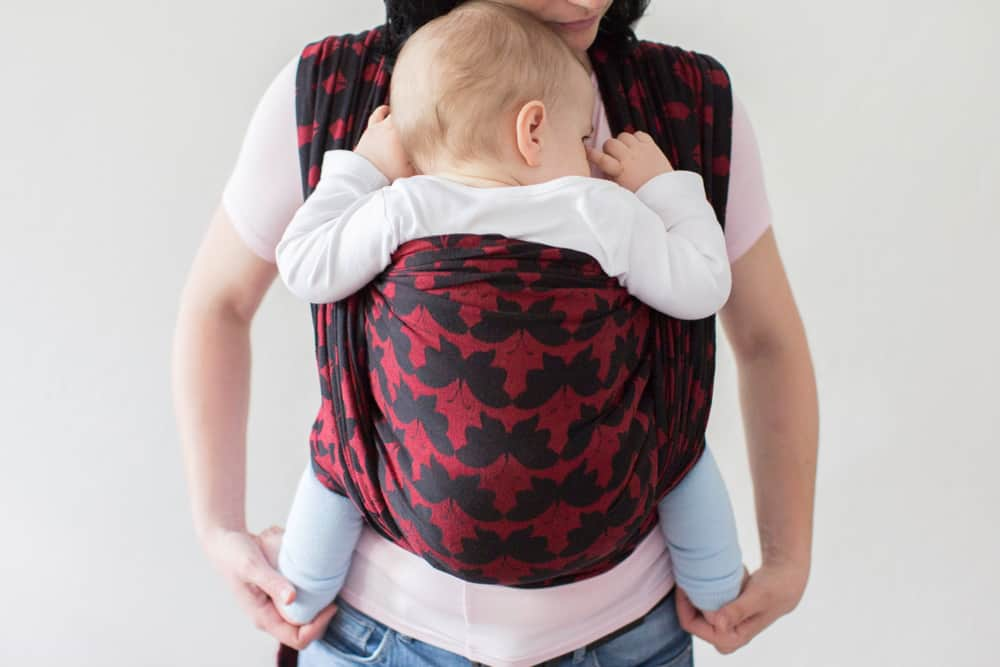 baby in baby carrier