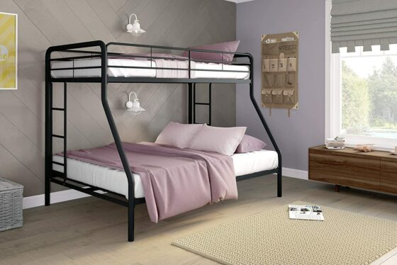 DHP Twin-Over-Full Bunk Bed with Metal Frame