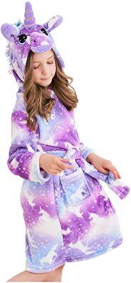 Doctor Unicorn Soft Hooded Bathrobe