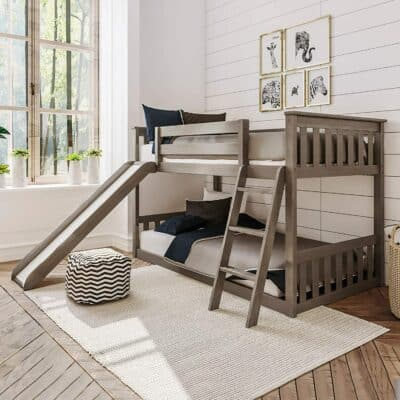 Max & Lily Low Bunk Bed with Slide