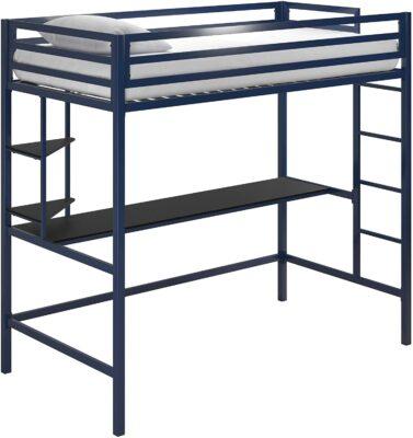 Novogratz Maxwell Metal Twin Loft with Desk