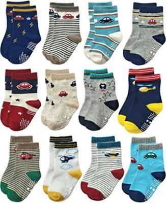 Rative Non-Skid Anti-Slip Crew Socks