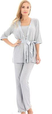 Bearsland 3-Piece Nursing Pajamas Set