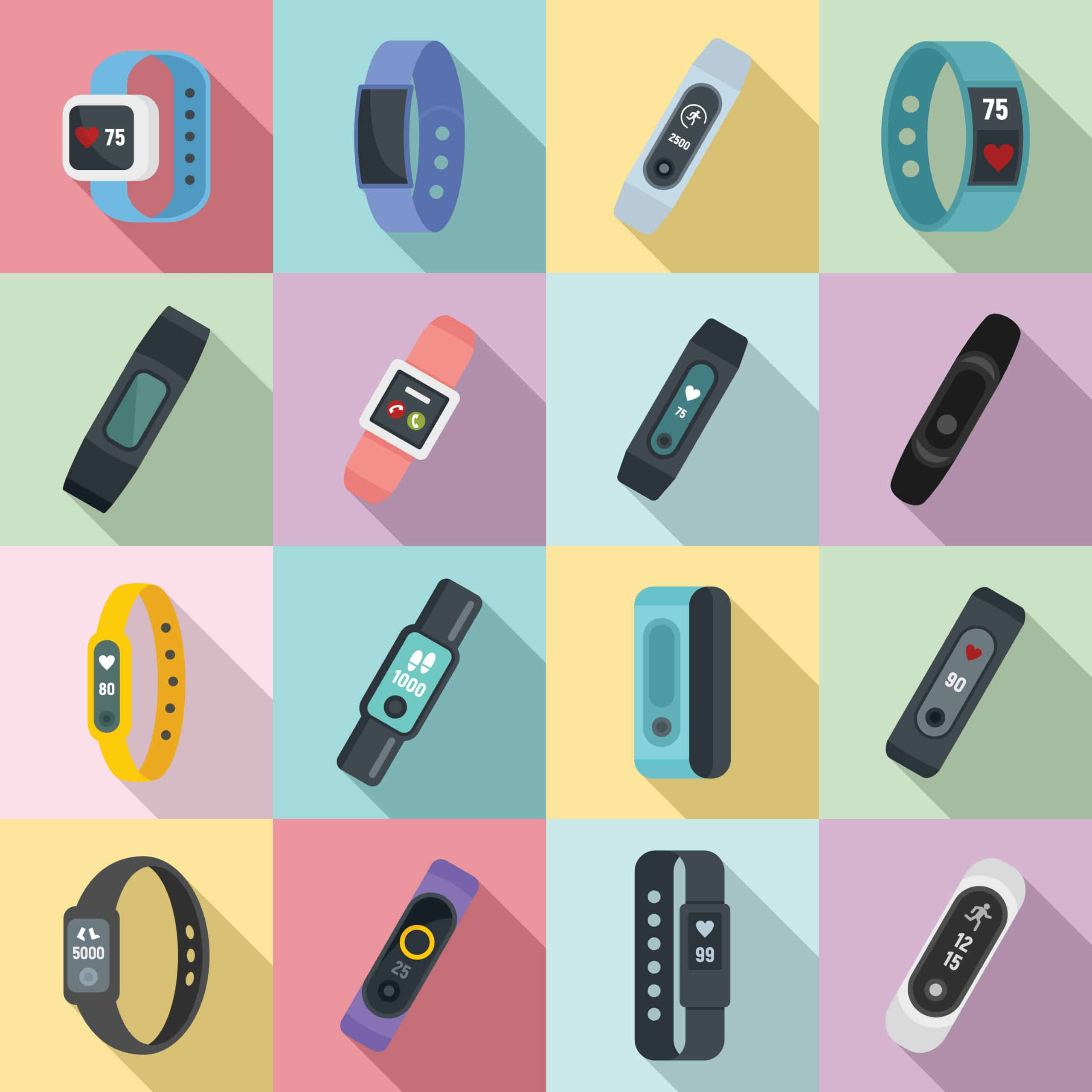 mixed images health tracking devices