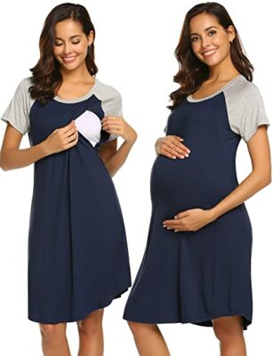 Ekouaer 3-in-1 Nursing Nightgown