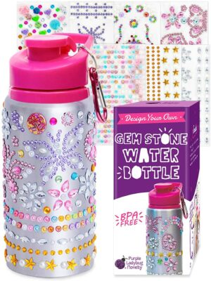 Purple Ladybug Decorate Your Own Water Bottle Kit