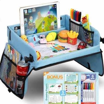 Tomser Kids Blue Travel Tray