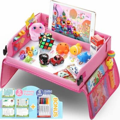 Tomser Kids Pink Travel Tray
