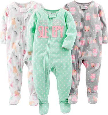 Carter's Simple Joys Footed Pajamas