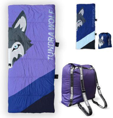 Tundra Wolf Kids Sleeping Bag